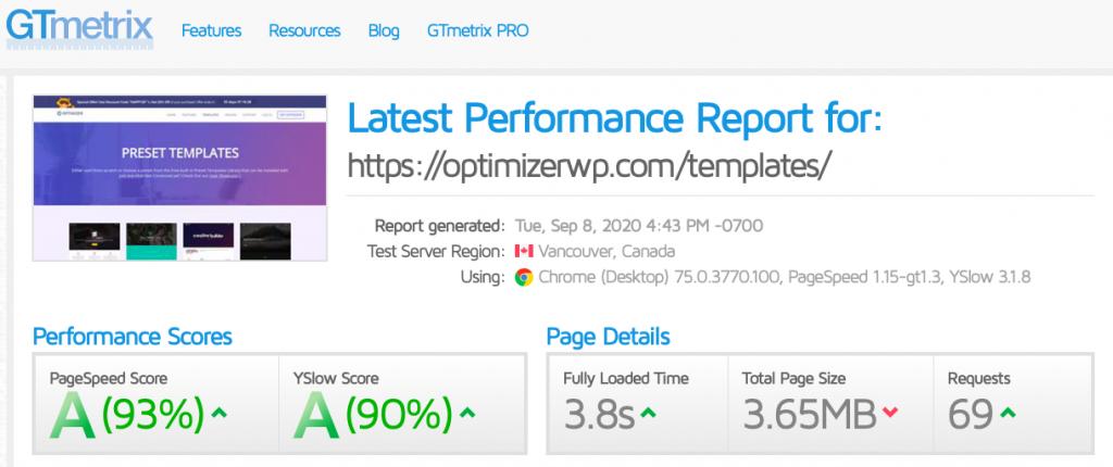 optimizer gt matrix speed test